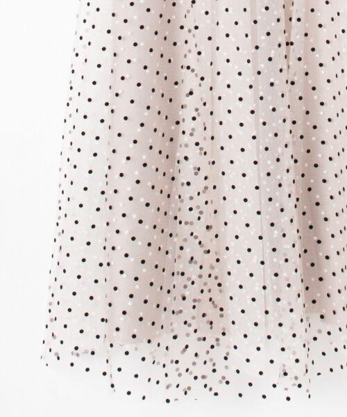 GRACE CONTINENTAL / グレースコンチネンタル ドレス | 配色ドットチュールドレス | 詳細15