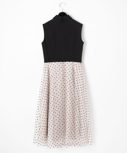 GRACE CONTINENTAL / グレースコンチネンタル ドレス | 配色ドットチュールドレス | 詳細16