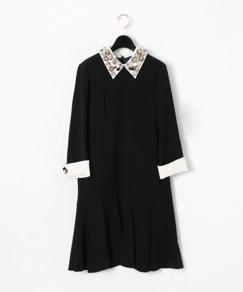 GRACE CONTINENTAL / グレースコンチネンタル ドレス | ビジューカラーワンピース(ブラック)