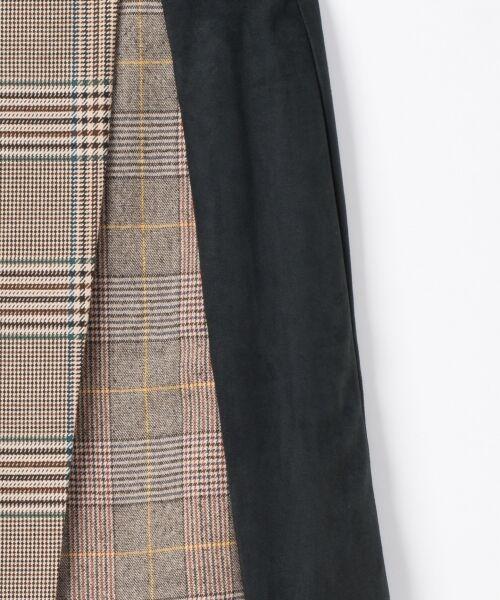 GRACE CONTINENTAL / グレースコンチネンタル ミニ・ひざ丈スカート | チェック切替ミニスカート | 詳細3