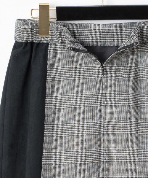 GRACE CONTINENTAL / グレースコンチネンタル ミニ・ひざ丈スカート | チェック切替ミニスカート | 詳細12