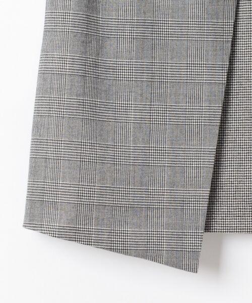 GRACE CONTINENTAL / グレースコンチネンタル ミニ・ひざ丈スカート | チェック切替ミニスカート | 詳細8