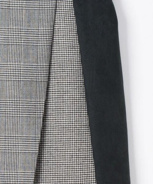 GRACE CONTINENTAL / グレースコンチネンタル ミニ・ひざ丈スカート | チェック切替ミニスカート | 詳細9