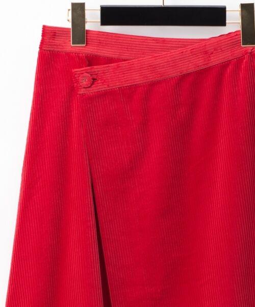 GRACE CONTINENTAL / グレースコンチネンタル ミニ・ひざ丈スカート | コーデュロイラップスカート | 詳細5