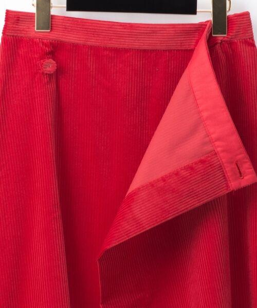 GRACE CONTINENTAL / グレースコンチネンタル ミニ・ひざ丈スカート | コーデュロイラップスカート | 詳細8