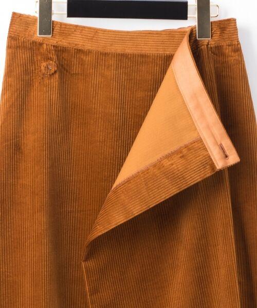 GRACE CONTINENTAL / グレースコンチネンタル ミニ・ひざ丈スカート | コーデュロイラップスカート | 詳細14