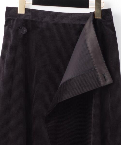 GRACE CONTINENTAL / グレースコンチネンタル ミニ・ひざ丈スカート | コーデュロイラップスカート | 詳細22