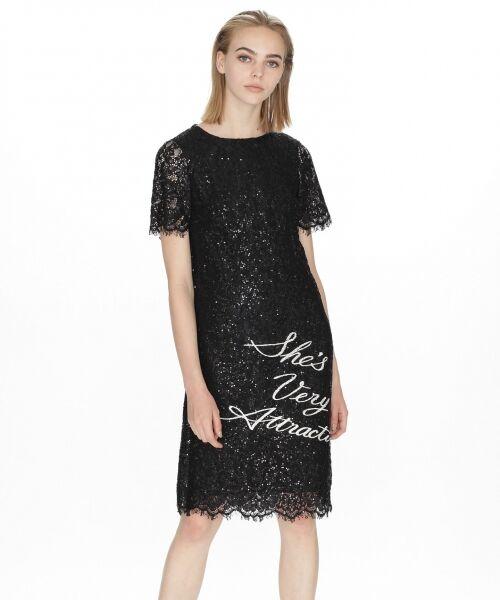 GRACE CONTINENTAL / グレースコンチネンタル ドレス | スパン刺繍レースミニワンピース | 詳細5