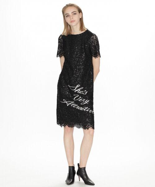 GRACE CONTINENTAL / グレースコンチネンタル ドレス | スパン刺繍レースミニワンピース | 詳細6