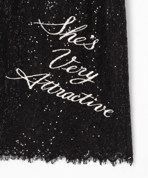 GRACE CONTINENTAL / グレースコンチネンタル ドレス | スパン刺繍レースミニワンピース | 詳細11