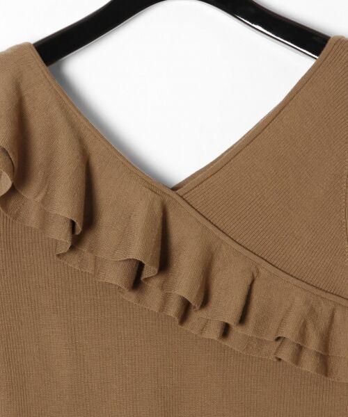 GRACE CONTINENTAL / グレースコンチネンタル ニット・セーター | ハイゲージフリルニットトップ | 詳細5
