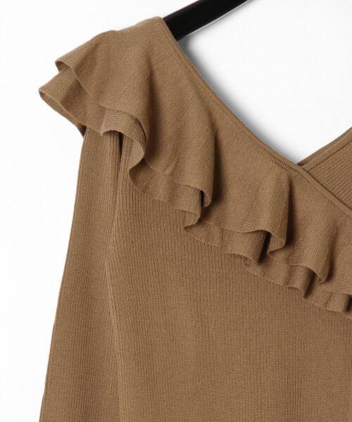 GRACE CONTINENTAL / グレースコンチネンタル ニット・セーター | ハイゲージフリルニットトップ | 詳細6