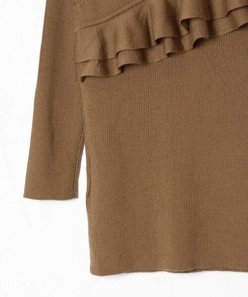 GRACE CONTINENTAL / グレースコンチネンタル ニット・セーター | ハイゲージフリルニットトップ | 詳細8