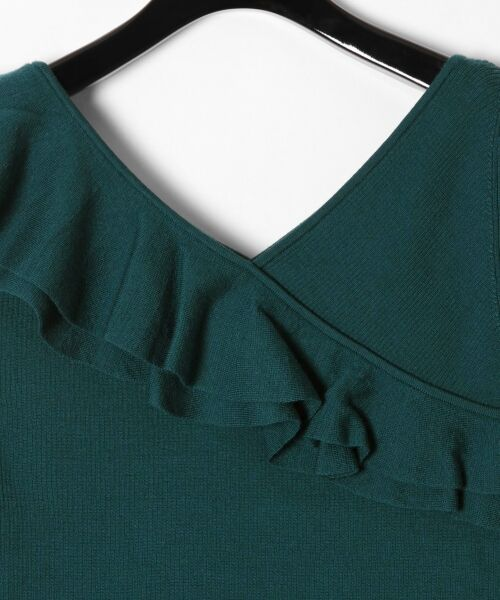 GRACE CONTINENTAL / グレースコンチネンタル ニット・セーター | ハイゲージフリルニットトップ | 詳細16