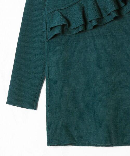 GRACE CONTINENTAL / グレースコンチネンタル ニット・セーター | ハイゲージフリルニットトップ | 詳細20