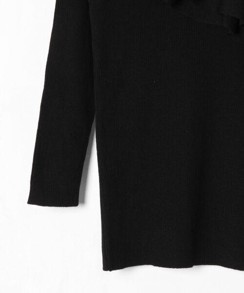 GRACE CONTINENTAL / グレースコンチネンタル ニット・セーター | ハイゲージフリルニットトップ | 詳細22