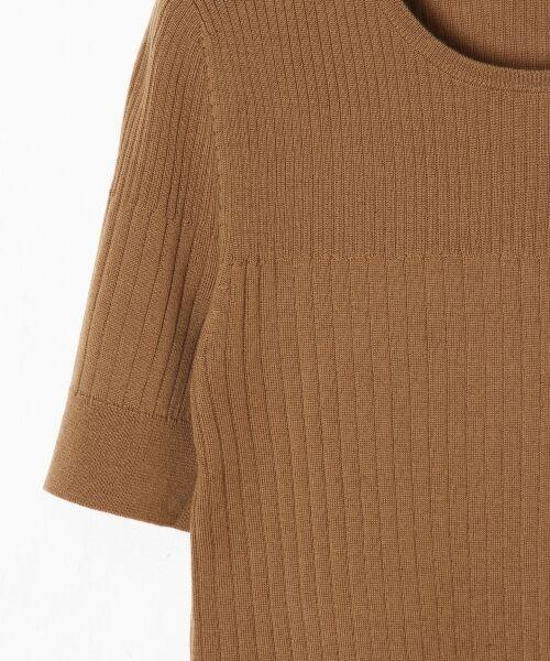 GRACE CONTINENTAL / グレースコンチネンタル ニット・セーター | ハイゲージ5分袖ニットトップ | 詳細3