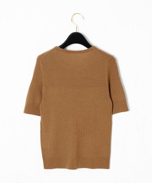 GRACE CONTINENTAL / グレースコンチネンタル ニット・セーター | ハイゲージ5分袖ニットトップ | 詳細5