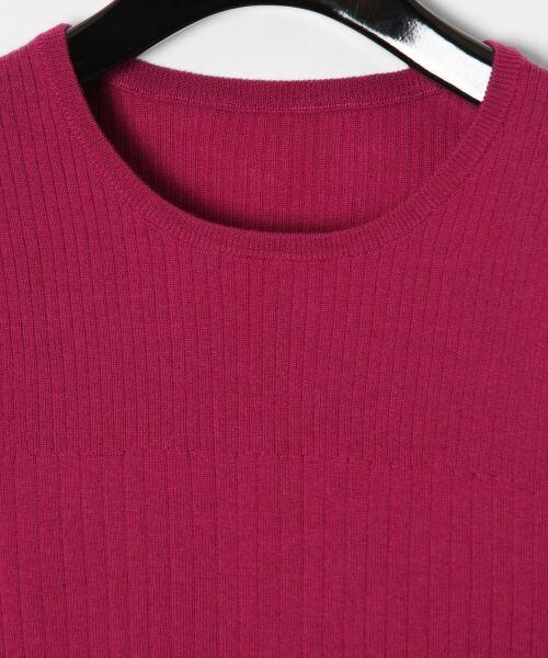 GRACE CONTINENTAL / グレースコンチネンタル ニット・セーター | ハイゲージ5分袖ニットトップ | 詳細10