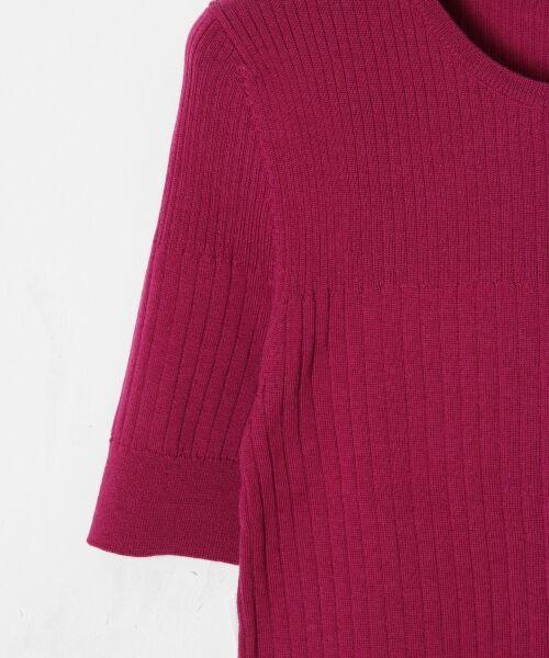 GRACE CONTINENTAL / グレースコンチネンタル ニット・セーター | ハイゲージ5分袖ニットトップ | 詳細11