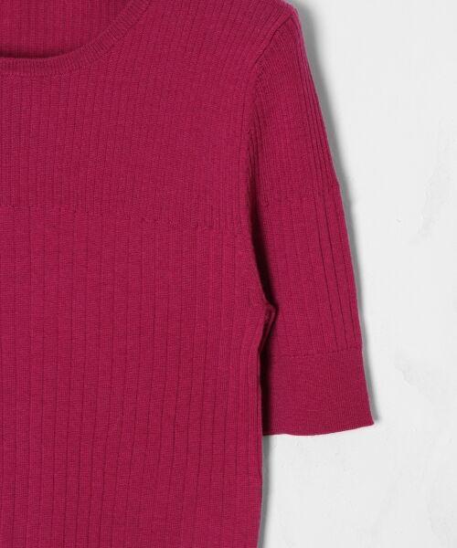GRACE CONTINENTAL / グレースコンチネンタル ニット・セーター | ハイゲージ5分袖ニットトップ | 詳細12