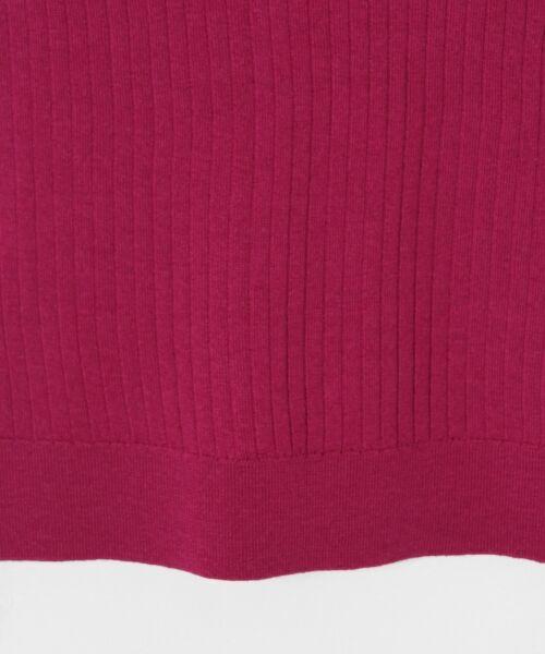 GRACE CONTINENTAL / グレースコンチネンタル ニット・セーター | ハイゲージ5分袖ニットトップ | 詳細14