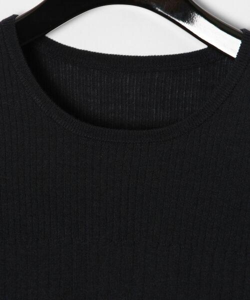 GRACE CONTINENTAL / グレースコンチネンタル ニット・セーター | ハイゲージ5分袖ニットトップ | 詳細15