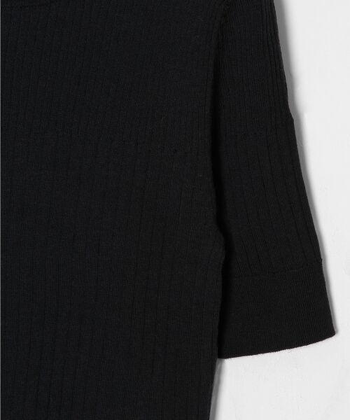 GRACE CONTINENTAL / グレースコンチネンタル ニット・セーター | ハイゲージ5分袖ニットトップ | 詳細16