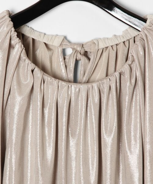 GRACE CONTINENTAL / グレースコンチネンタル Tシャツ | メタリックドレープトップ | 詳細1