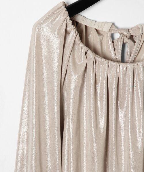 GRACE CONTINENTAL / グレースコンチネンタル Tシャツ | メタリックドレープトップ | 詳細2