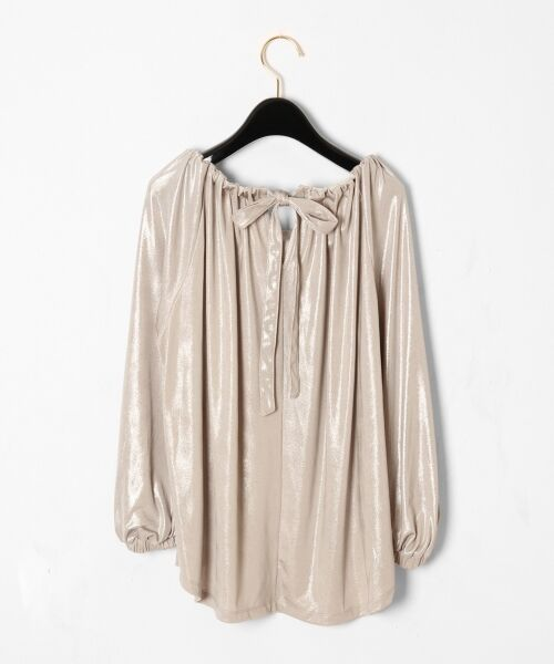 GRACE CONTINENTAL / グレースコンチネンタル Tシャツ | メタリックドレープトップ | 詳細5