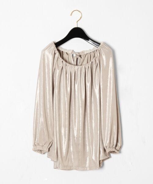 GRACE CONTINENTAL / グレースコンチネンタル Tシャツ | メタリックドレープトップ(ベージュ)