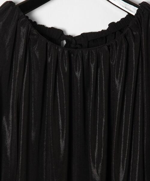 GRACE CONTINENTAL / グレースコンチネンタル Tシャツ | メタリックドレープトップ | 詳細6