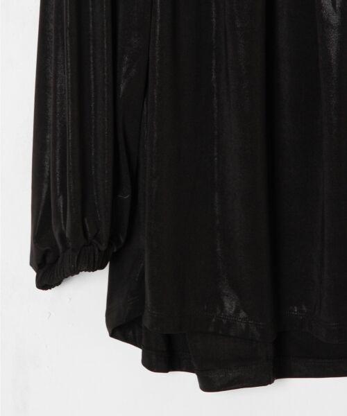 GRACE CONTINENTAL / グレースコンチネンタル Tシャツ | メタリックドレープトップ | 詳細7