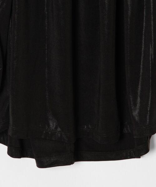 GRACE CONTINENTAL / グレースコンチネンタル Tシャツ | メタリックドレープトップ | 詳細8