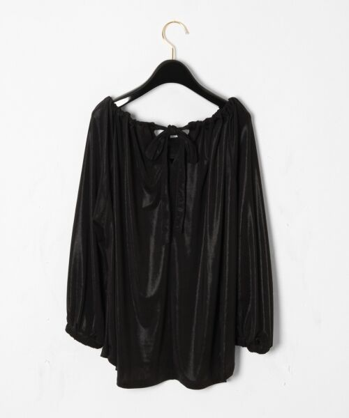 GRACE CONTINENTAL / グレースコンチネンタル Tシャツ | メタリックドレープトップ | 詳細9