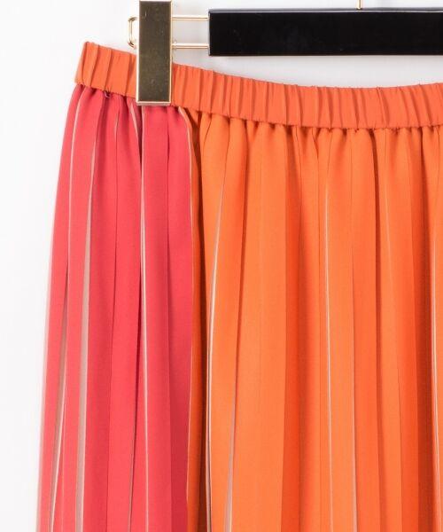 GRACE CONTINENTAL / グレースコンチネンタル ミニ・ひざ丈スカート | バイカラープリーツ配色スカート | 詳細1