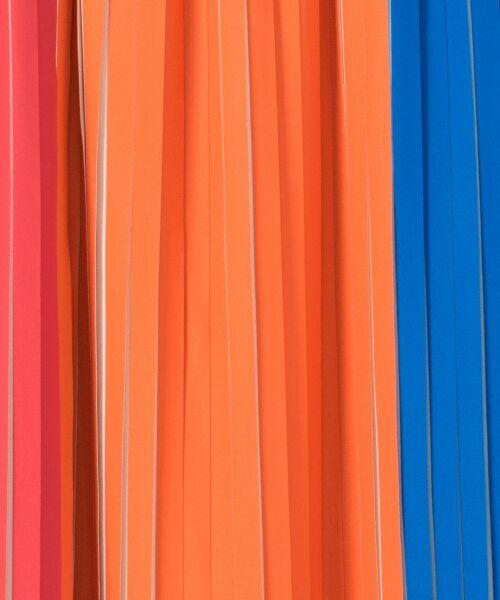 GRACE CONTINENTAL / グレースコンチネンタル ミニ・ひざ丈スカート | バイカラープリーツ配色スカート | 詳細2