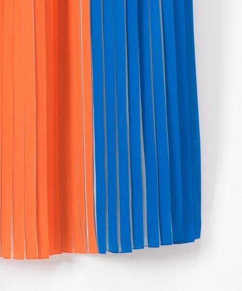 GRACE CONTINENTAL / グレースコンチネンタル ミニ・ひざ丈スカート | バイカラープリーツ配色スカート | 詳細3