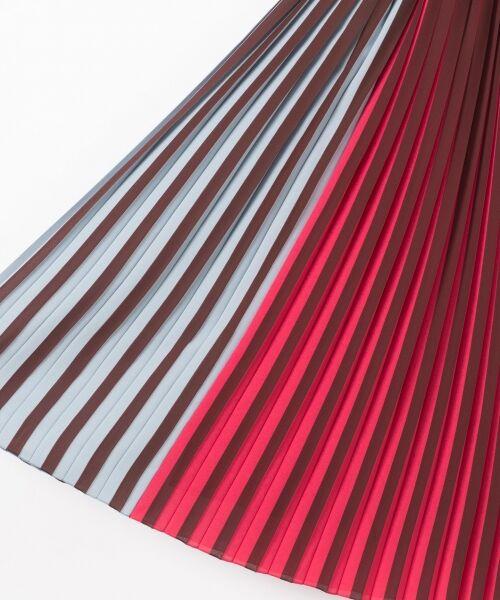 GRACE CONTINENTAL / グレースコンチネンタル ミニ・ひざ丈スカート | バイカラープリーツ配色スカート | 詳細16
