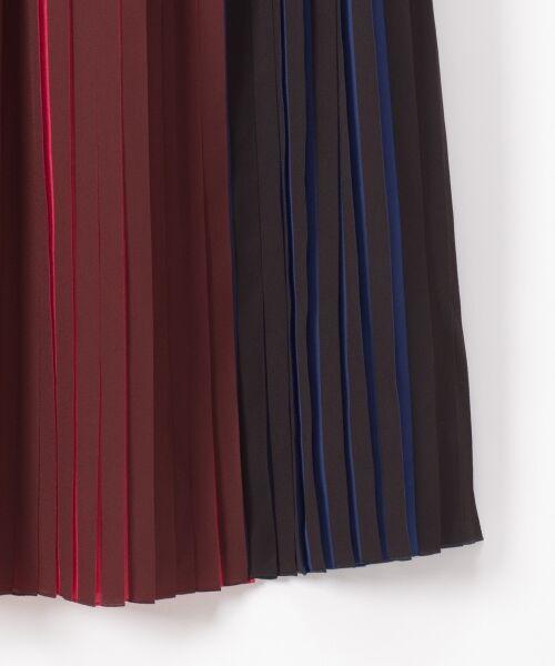 GRACE CONTINENTAL / グレースコンチネンタル ミニ・ひざ丈スカート | バイカラープリーツ配色スカート | 詳細13