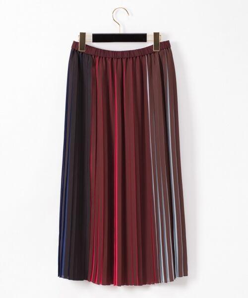 GRACE CONTINENTAL / グレースコンチネンタル ミニ・ひざ丈スカート | バイカラープリーツ配色スカート | 詳細14