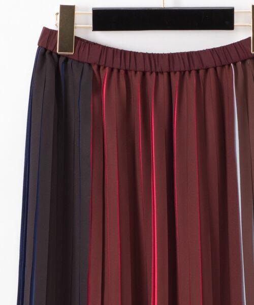 GRACE CONTINENTAL / グレースコンチネンタル ミニ・ひざ丈スカート | バイカラープリーツ配色スカート | 詳細15