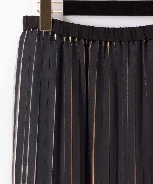 GRACE CONTINENTAL / グレースコンチネンタル ミニ・ひざ丈スカート | バイカラープリーツ配色スカート | 詳細17