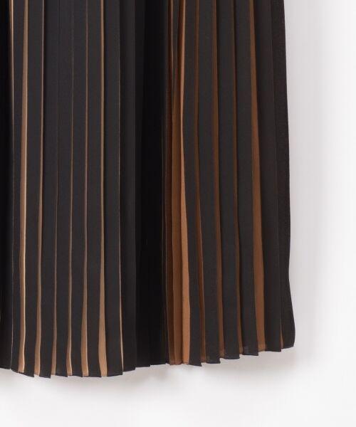 GRACE CONTINENTAL / グレースコンチネンタル ミニ・ひざ丈スカート | バイカラープリーツ配色スカート | 詳細19