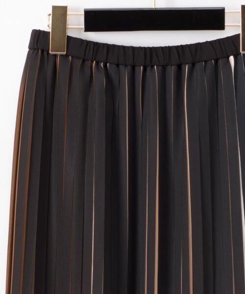 GRACE CONTINENTAL / グレースコンチネンタル ミニ・ひざ丈スカート | バイカラープリーツ配色スカート | 詳細21