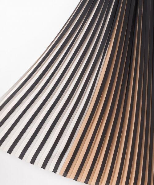 GRACE CONTINENTAL / グレースコンチネンタル ミニ・ひざ丈スカート | バイカラープリーツ配色スカート | 詳細22