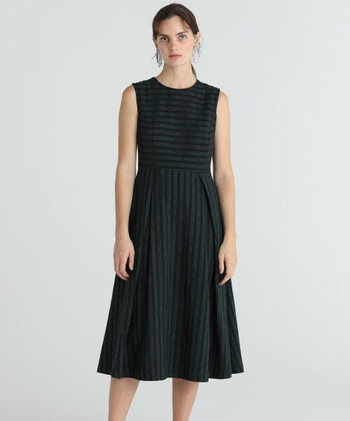 GRACE CONTINENTAL / グレースコンチネンタル ドレス | ラインロゴジャガードドレス | 詳細1