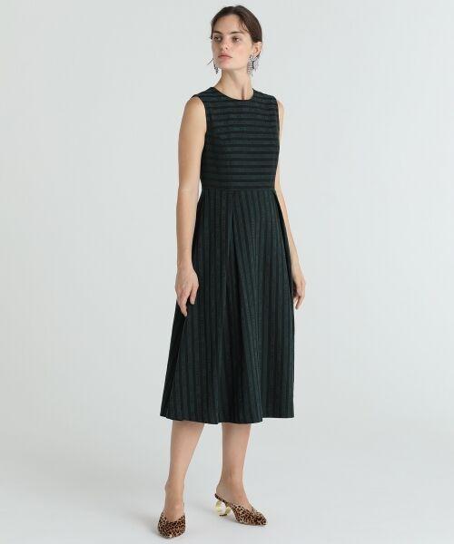 GRACE CONTINENTAL / グレースコンチネンタル ドレス | ラインロゴジャガードドレス | 詳細2