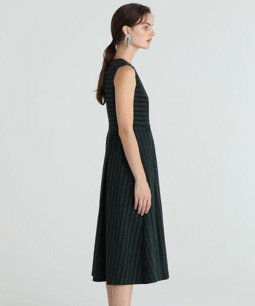 GRACE CONTINENTAL / グレースコンチネンタル ドレス | ラインロゴジャガードドレス | 詳細3